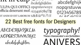 22 Best free fonts for Designers