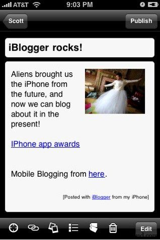 IBT iBlogger 10 Popular Blogging iPhone Applications