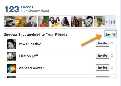 Invite Frineds on Facebook