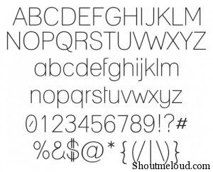 LANE font