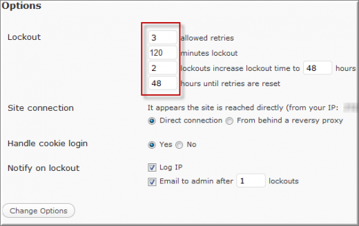 LoginAttempts screenshot1 520x328 Limit Login Attempt : Secure WordPress from Brute Force Attack