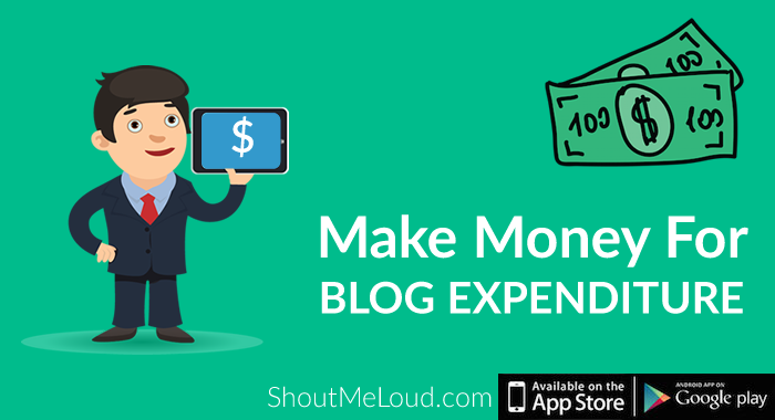 Make Money For Blog Expenditure