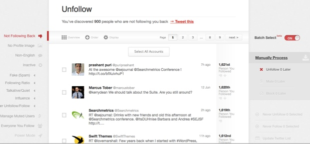 Managefilter Twitter tool 5 Free Twitter Unfollow Tool to Unfollow Non Followers