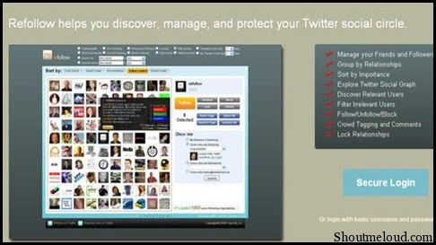 Refollow1 5 Free Twitter Auto Follow Tools for auto Following Followers