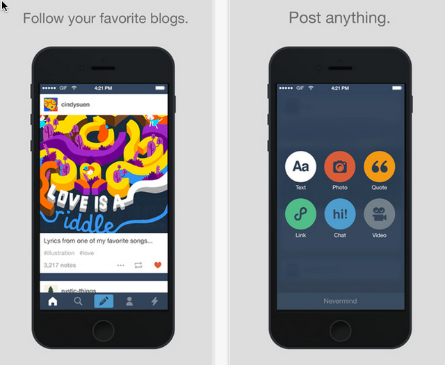 Tumblr iPhone App