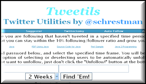 Tweetils 5 Twitter tools to Unfollow Inactive Users