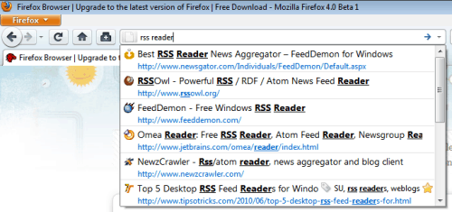 firefox awesome bar screenshot Firefoxs Awesome Bar   Some Must Known Tips and Tricks