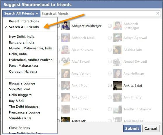 invite Friends to join Facebook page