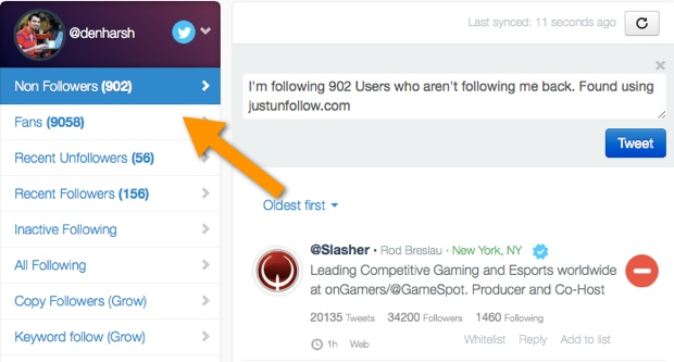 justfollow 5 Free Twitter Unfollow Tool to Unfollow Non Followers