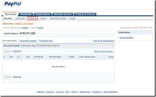 paypal1 thumb Paypal Stopped Electronic Fund Withdrawal in India