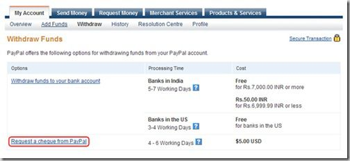 paypal2 thumb Paypal Stopped Electronic Fund Withdrawal in India
