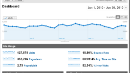 Shoutmeloud Monthly Traffic Report June 2010