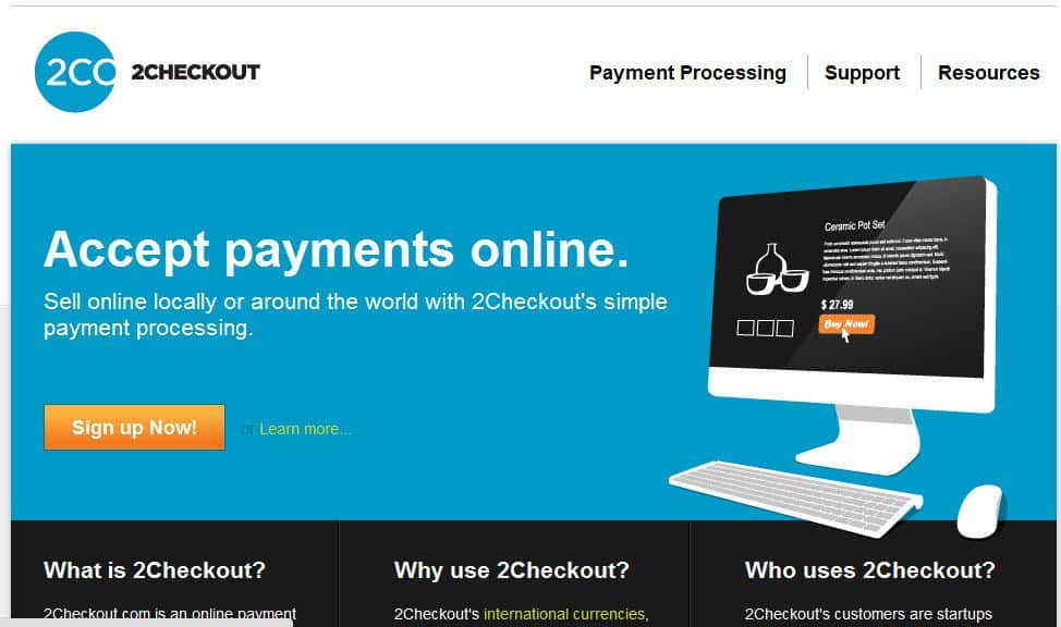 2CheckOut.com  Top 5 Paypal Alternatives For Bloggers and FreeLancers