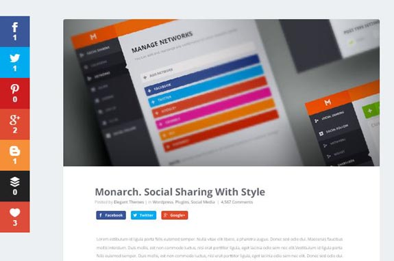 Monarch sharing button
