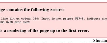 WordPress RSS Feed Error: Input is not proper UTF-8, indicate encoding