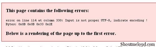 Rssfeedserror thumb WordPress RSS Feed Error: Input is not proper UTF 8, indicate encoding