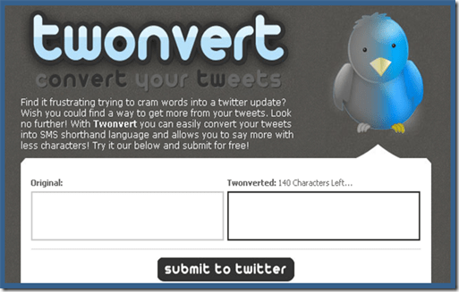 Twontvert 5 Tools to Tweet Lengthy Messages on Twitter