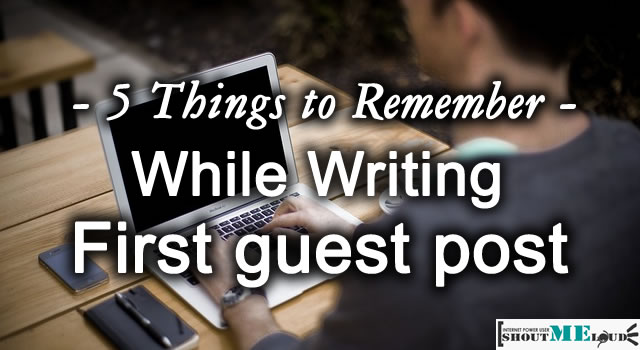 Writing First Guest Post