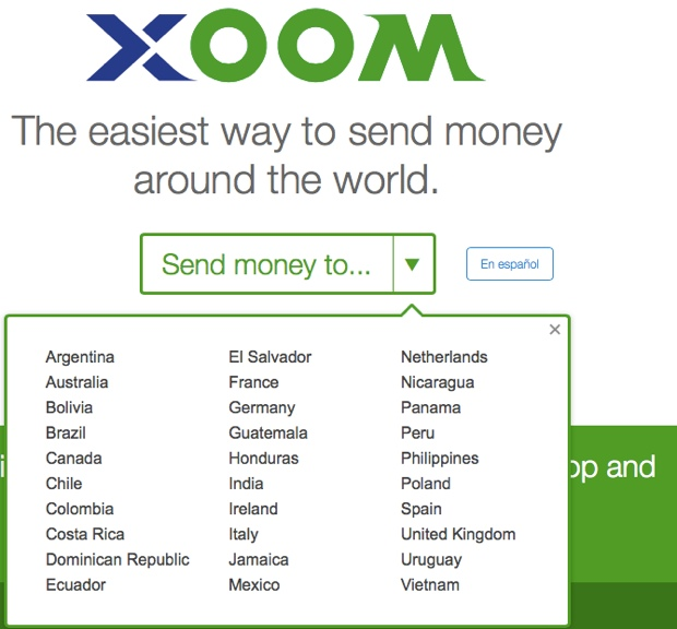 Xoom PayPal alternative Top 5 Paypal Alternatives For Bloggers and FreeLancers