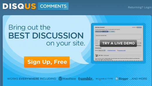 disqus 520x295 How to Integrate DISQUS Commenting System on Your Website