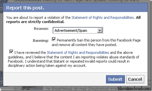 fb thumb Facebook Fan Page: How to Permanently Ban a Spammer