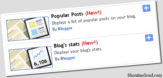 popularpostsBlogSpot thumb BlogSpot added Official Blogger Stats and Popular posts Widget