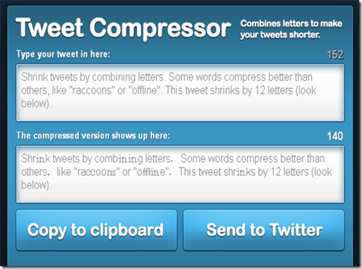 tweetcompressor 5 Tools to Tweet Lengthy Messages on Twitter