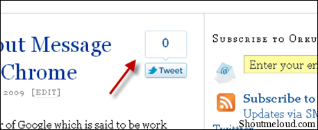 tweetofficial thumb How to Add Twitter Official Share Count Button Into Thesis WordPress Theme