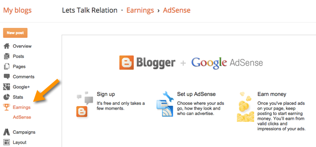 BlogSpot AdSense