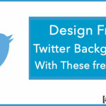 Design Free Twitter Background With These free Tools
