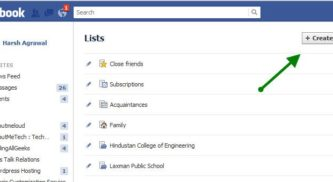 How to Use Facebook List Feature