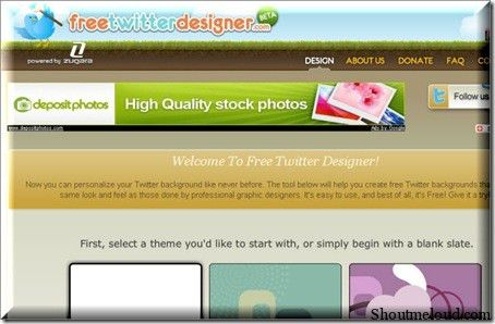 FreeTwitterDesigner 10 Websites to Create Free Custom Twitter Background
