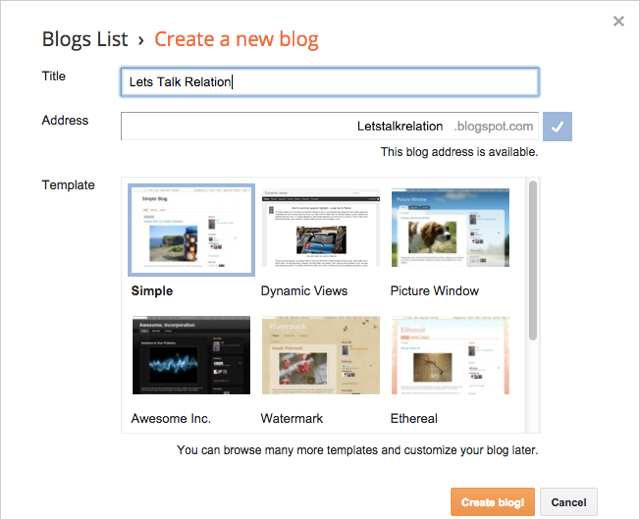 How to create a free blog on blogspot.