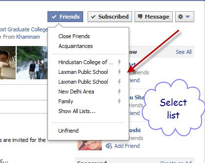Select Facebook List How to Use Facebook List Feature