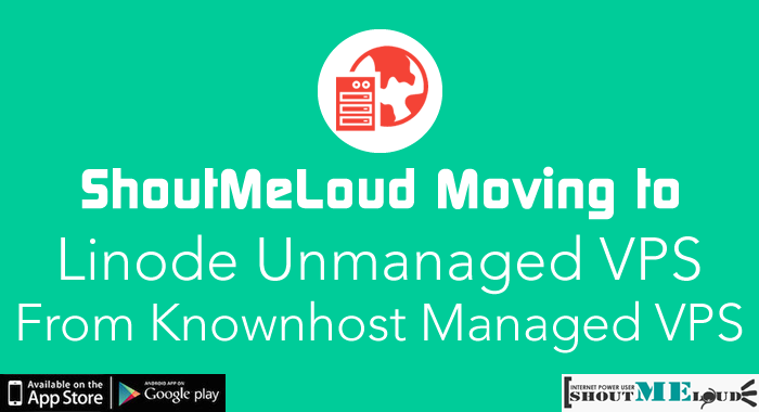 Shoutmeloud Moving Hosting