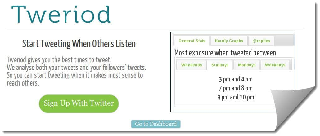 Tweriod 3 Twitter Tools To Determine The Best Time To Tweet