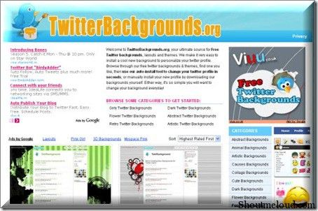 TwitterBackgrounds 10 Websites to Create Free Custom Twitter Background