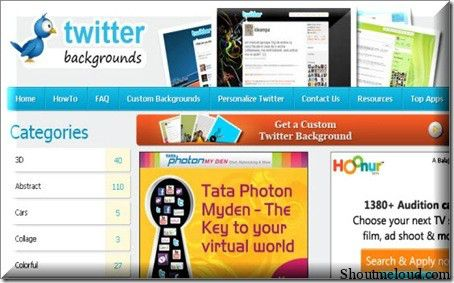 TwitterImages 10 Websites to Create Free Custom Twitter Background