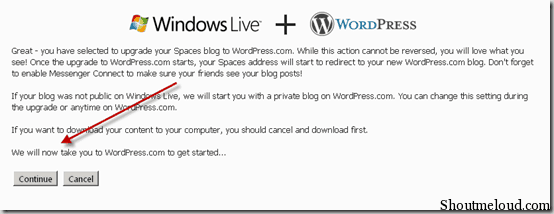 blogmigration thumb How to Migrate from Windows Live Space to WordPress.com