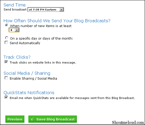 blognotification thumb How to Send Feedburner RSS Update to Aweber Mailing List