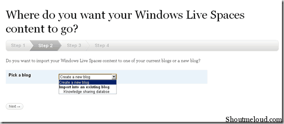 createnewWordPressblog thumb How to Migrate from Windows Live Space to WordPress.com