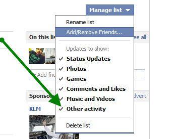 delete Facebook List