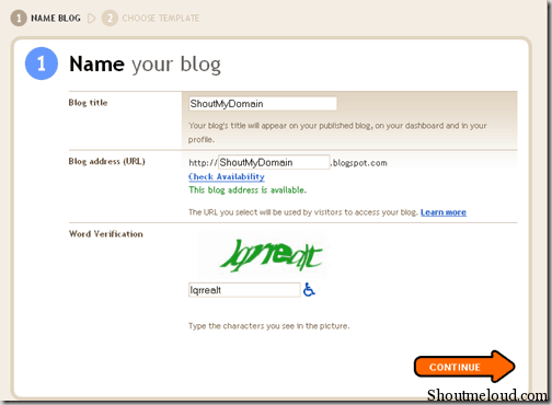 nameyourblog thumb How to Create a Free Blog using BlogSpot.com