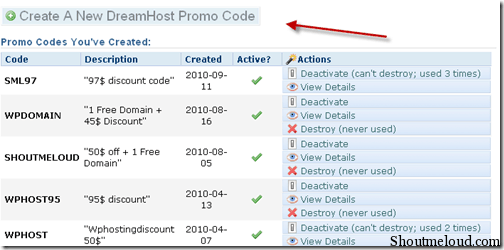 newpromo thumb How to generate Dreamhost Promo code & Promote Affiliate Program