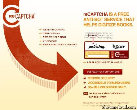 Recaptcha Plugin- Fighting Spam comments & Spam Bot Registration