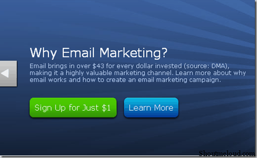 signup thumb Start Aweber Email Marketing with 1$