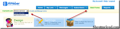 signupform thumb How to Create Mailing List Using Aweber [Tutorial]