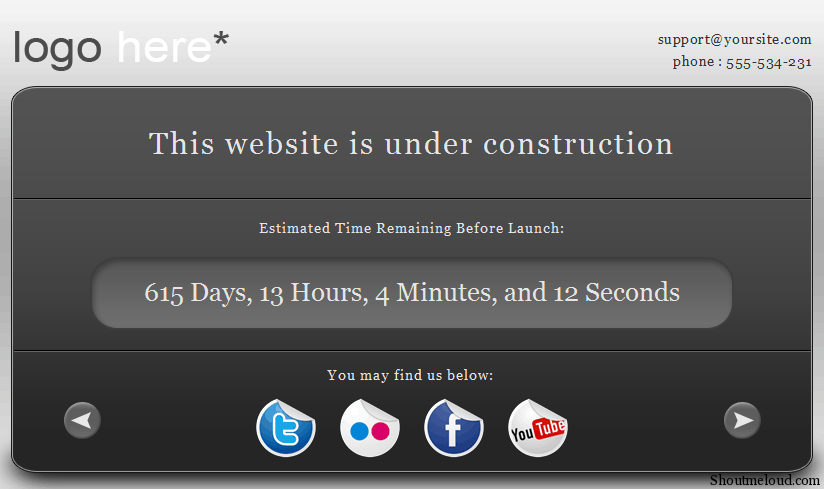 site under construction. Free Under Construction