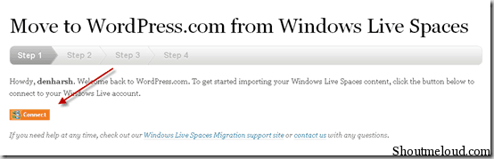 windowsliveconnect thumb How to Migrate from Windows Live Space to WordPress.com