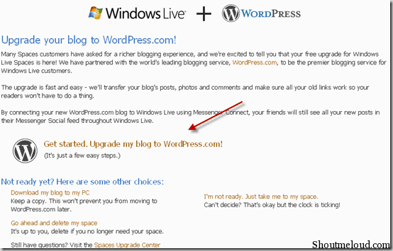 windowslivespace2 thumb How to Migrate from Windows Live Space to WordPress.com
